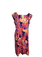 Grace Hill Womens Size 14 A -Line Midi Cap Sleeves Dress