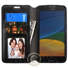 Motorola Moto E4 MYBAT Wallet W/Tray - Black Guard Shield