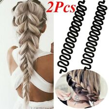 2pcs Women French Hair Braiding Tool Weave Braider Roller Magic Twist Styling