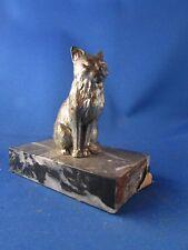 ancienne statue de chat regule socle marbre epoque 1930 art deco
