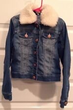REVOLUTION by REVOLT Girls Size Small Denim Jacket with Detachable Collar H1