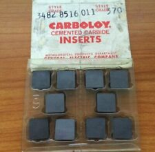 Carboloy 3482 8516 011 370 Cemented Carbide Inserts 10 Pcs Lathe Mill Tool New