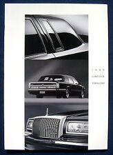 Prospekt brochure 1995 Lincoln Town Car (USA)
