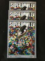 DEF 3 Pack NFL 2021 Super Bowl 55 LV Stadium Programs Tampa Bay vs Kansas City