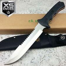 "Elk Ridge 12"" Full Tang Reverse Serrated Survival Fixed Blade Hunting Knife"