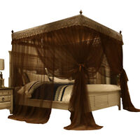 mosquito net summer anti-mosquito netting bed curtain canopy with tubes queen