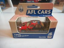 """Matchbox AFL Cars Falcon """"Adelaide Crows"""" in Red/Blue in Box"""