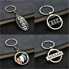Universal 3D Metal Double Side Car Logo Hollow out Keyring Car Key Chains Holder