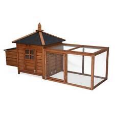 Poulailler en bois Java 4 Poules Cage À Poule avec Enclos