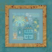 Counted Cross Stitch Hand Embroidery Kit Atlantis Octopus Sampler