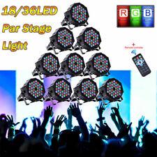 10Pcs 80W Rgb Par Stage Lighting 36 Led Dmx Dj Disco Party Wedding Uplighting Us