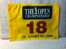 St Andrews Golf Links 2000 The Open Championship Nylon Pin Flag 18 Tiger Woods