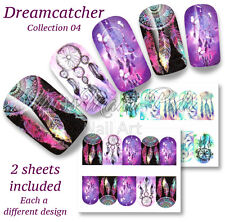 Dreamcatcher calcomanías de uñas de Agua Uñas Festival envuelve Pegatinas dreamcatchers BN310