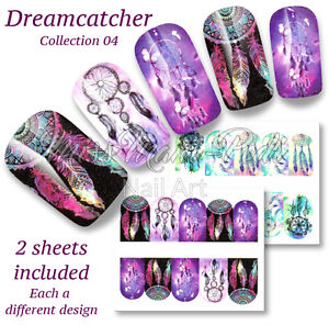 Dreamcatcher Nails, Festival Wraps, Water Nail Decals, Stickers, BN310 Multipack