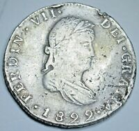 1822 Go JM Mexico Guanajuato Silver 2 Reales Antique Key Date Old Mexican Coin