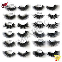 US 3D Real Mink Lashes Thick Fluffy Wispy Dramatic Look False Eye Lashes 1 Pair