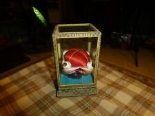 Vintage SILK PIN CUSHION IN GLASS BOX W/ 4 Chinese Men VG !