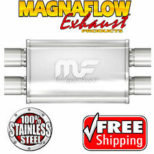 MAGNAFLOW 11385 Muffler Stainless Steel 2.25 ID Dual In Dual Out 4 X 9 Oval 20""