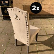 Dining Chairs in Velvet Knocker Back - High Quality Velvet, Kitchen, SET OF 2/4