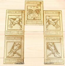 Exodia the Forbidden One Set Yugioh Custom Limited Collection Golden Metal Cards