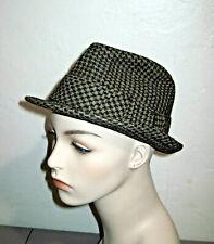 Vintage Men's Knox Houndstooth Fedora Vintage Hat Rat Pack Retro