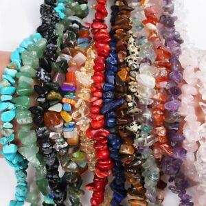 "Lot 5-8mm Natural Freeform Stone Chips beads strand gemstones Jewelry Making 15"""