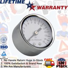 Universal Fuel Pressure Gauges Oil 1-1/2 in Diagnostic Kit Tool 0-15 psi 1561 US