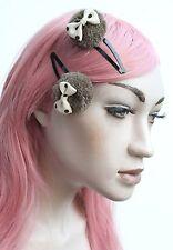 POM POM Nœud Cheveux Clip-LOLITA KAWAII INDIE GRUNGE 90 S Trends