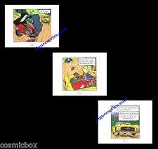 Lot 3 Ex-libris TINTIN l'AFFAIRE TOURNESOL affiche BD auto voiture moto figurine