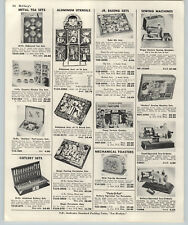 1964 PAPER AD Toy Singer Hasbro Sew-O-Matic Sewing Machine Corning Ware Tea Sets