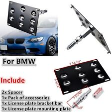 Bumper Tow Hook License Plate Holder For BMW F10 F30 F32 3 4 5 Series Z4 X3 X4