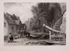 Water Mills - Moulin D'après C. Stanfield par R. Wallis tirage avant la lettre -