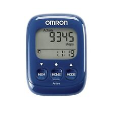 New Omron Walking Style IV Step Counter Activity Tracker Pedometer Blue HJ325EB