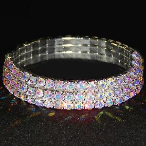 Touchstone Crystal by Swarovski ?Stretch Bracelet Aurora Borealis