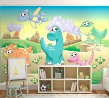 Large Paper Wallpaper for Kids Room 254x183cm Wall Mural Dinosaurs Home Decor