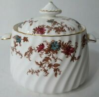 Vintage Minton  Ancestral Sugar Bowl W/ Lid #S376 Made in England Bone China