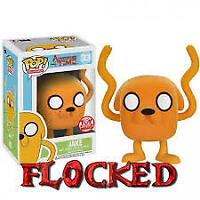 Funko Pop! Adventure Time! Jake #33 (Toy Wars Exclusive) (Flocked) VERY RARE