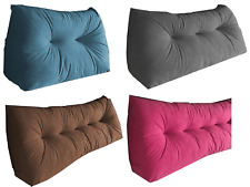Triangular Wedge Lumbar Cushion Headboard Backrest Faux Suede - UK MADE