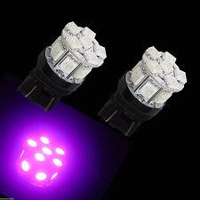 2x T20 7440 7443 13 5050 SMD LED LIGHT TAIL BRAKE TURN BULB PURPLE W21WP3