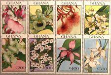 GHANA 1990 1439-46 Block 162-63 Orchideen Orchids Blumen Flowers Flora MNH