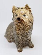 """Charm of Creamware Heredities England Scottie Dog Figurine ~ 4"""""""