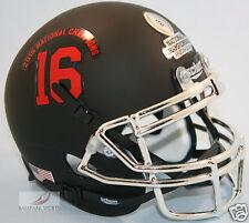 ALABAMA CRIMSON TIDE (2015 NATIONAL CHAMPIONS) Matte Black Schutt XP Mini Helmet