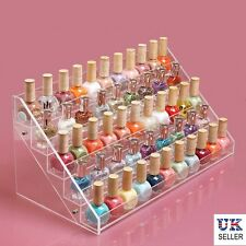 5 TIER Acrylic Nail Polish Stand | Hold up to 65 NAIL VARNISH | Cosmetic DISPLAY