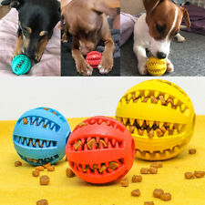 Dog Treat Ball Interactive Chew Resist Toys Teeth Cleaning Food Dispenser Feeder