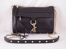 Rebecca Minkoff Mac Clutch in BLACK with Light Gold Hardware NWT