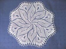 kleine weiße Mitteldecke  Deckchen rund  35 cm weiß Baumwolle