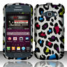 """For Samsung """"Prevail 2"""" Rubberized HARD Phone Case Cover Rainbow Leopard"""