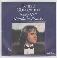 "RICHARD CLAYDERMAN Vinyle 45T 7"" LADY DI - ANASTASIA KEMSKY Piano DELPHINE 64072"
