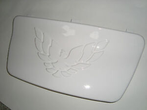 Paint Blemish   NEW Firebird Trans AM License Plate Cover 30th Anniversary White