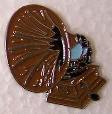 Hat Lapel Pin Push Tie Tac Music Musical Antique Gramaphone NEW